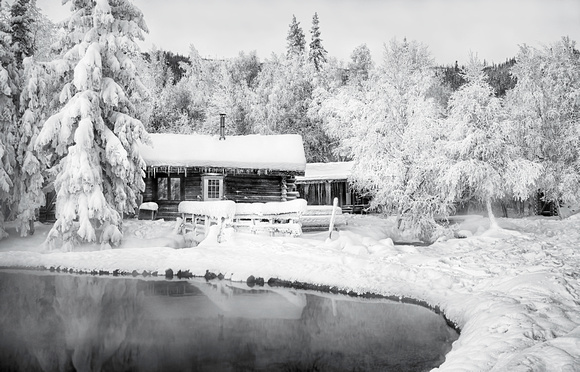 Log Cabin on Hot Springs Pond