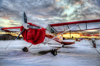 Cessna 180 in the Snow