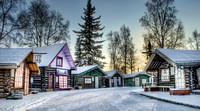 Colorful Cabin Row