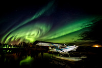 Aurora Swirl with Floatplane